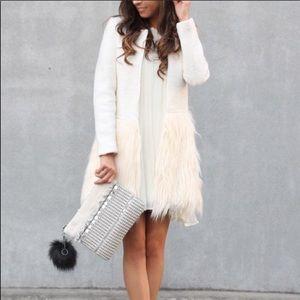 Jackets & Coats - White Faux Fur Topper